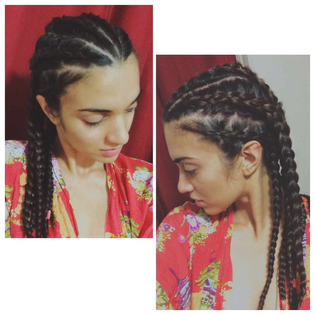 Hair Tutorial Big Cornrows No Heat Waves For Days It